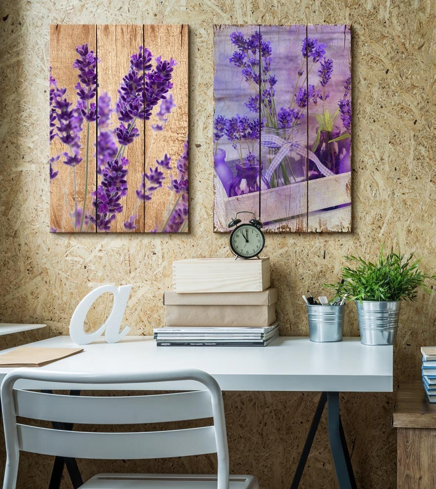 Beautiful lavender flowers on a wooden background canvas art wall26 beautiful lavender flowers on a wooden background izmirmasajfo