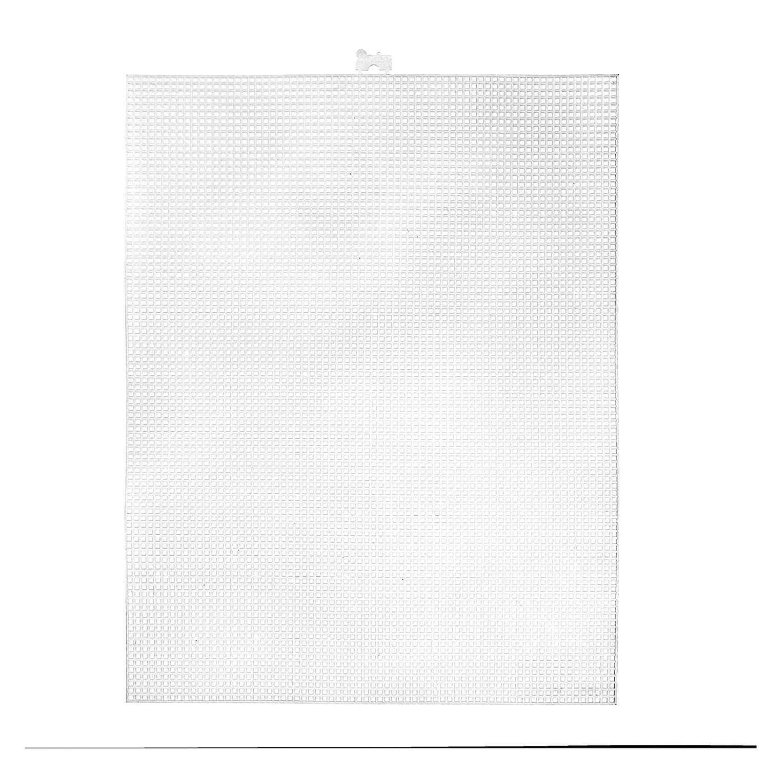 """8.25/""""x11/"""" Per Sheet Picture Frames 2 Sheets 14 Holes Per Inch Create a Variety of Fun Plastic Canvas Crafts Including Bookmarks Pins and More Darice 14 Mesh Clear Plastic Canvas"""