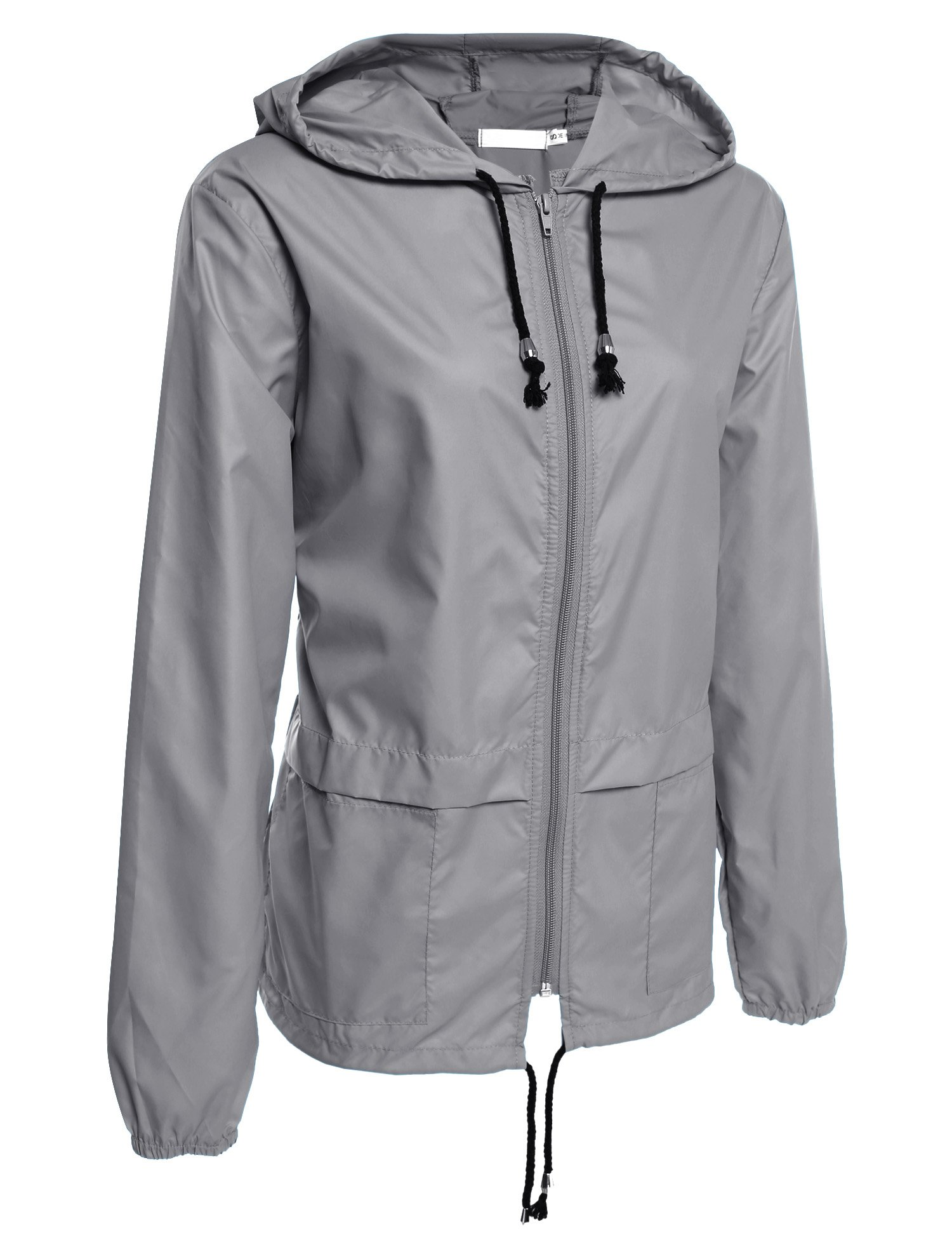 Beyove Women's Lightweight Rain Jacket Active Outdoor Waterproof Packable Hooded Raincoat by Beyove (Image #2)