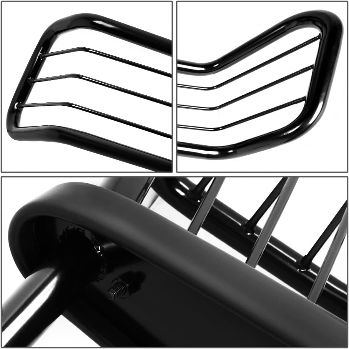 DNA MOTORING Silver GRILL-G-053-SS Front Bumper Brush Grille Guard