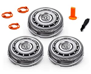 Stellate SH90 Philips Norelco Replacement Heads -Compatible Norelco Replacement Blades Norelco 9000 Norelco Series 8000 Philips SH90 Philips Norelco Shaver Heads SH90 62 Shaving Head Shavers Lock-Ring