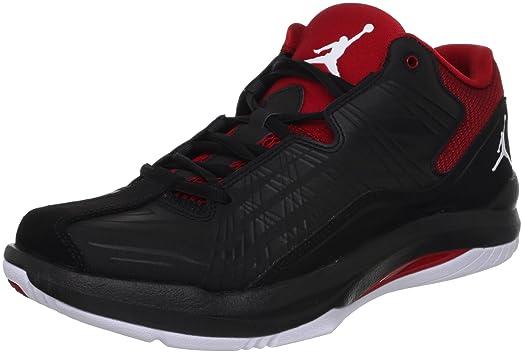 Nike Men\u0027s NIKE JORDAN AERO MANIA LOW BASKETBALL SHOES BLACK/WHITE/GYM RED/