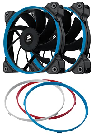 Re Corsair Air Series AF120 LED 120mm Quiet Edition High Airflow Fan Twin Pack