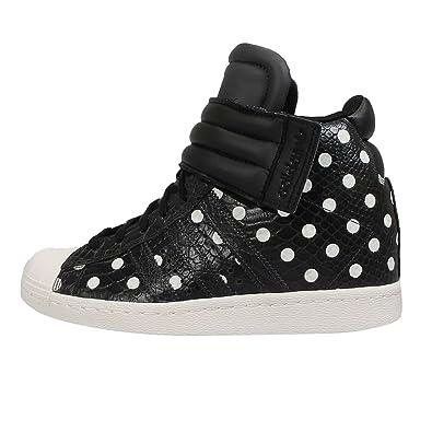 Adidas Women's Superstar UP Strap W, CARBON/BLACK/WHITE, 8.5 US