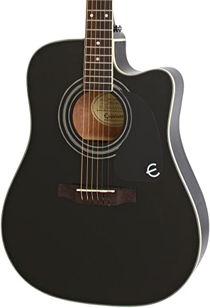 Ebony acoustic guitar