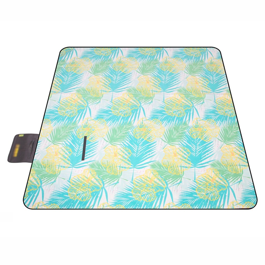 Picknickdecken Outdoor Spring Mat Feuchtigkeits Picknick Teppich Turf Pad Camping Tuch 200  200 cm (Farbe   Leaves Style)