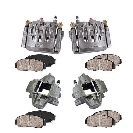 2 Callahan CCK04155 REAR Premium Semi-Loaded Original Caliper Pair Hardware Brake Kit
