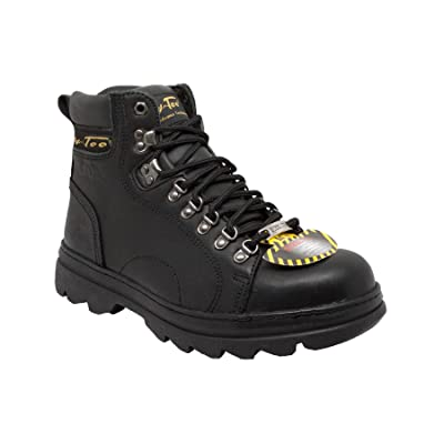 "Amazon.com | Ad Tec Men's 6"" Steel Toe Hiker Black 