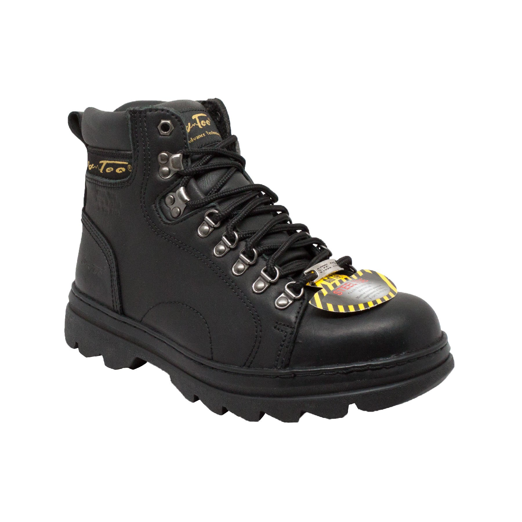 Adtec Men's 6 inch Steel Toe M Work Hiker, Black, 14 W US