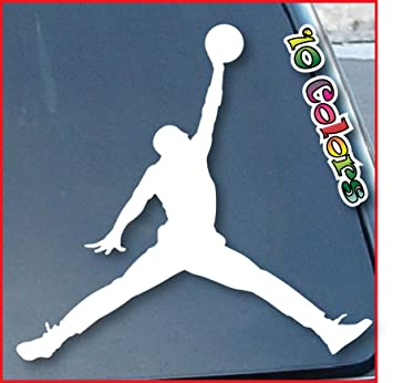 pink air jordan car decal