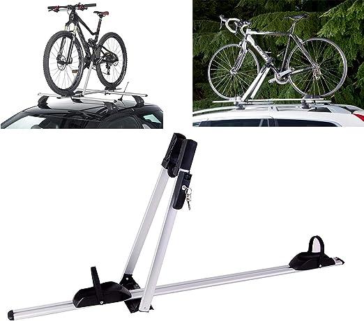 Instan Porta Bicicletas para Techo de Coche Portabicicletas de Bicicleta de Aluminio se Adapta a la mayoría de los ciclos de tamaño, incluidos los Corredores y MTB: Amazon.es: Hogar