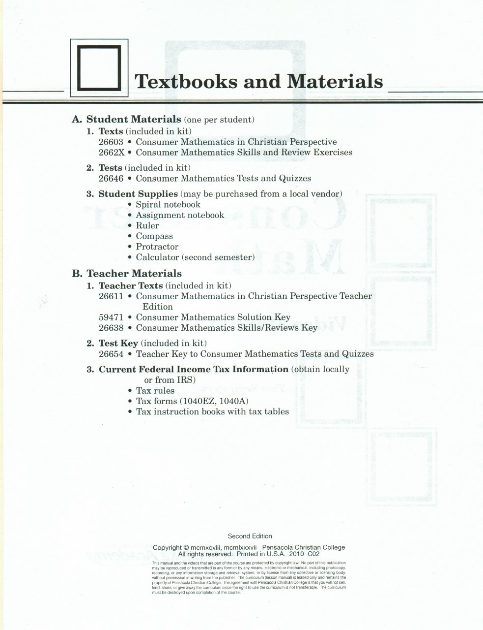 Video Manual for Consumer Math: Glenn Dickson: Amazon.com: Books