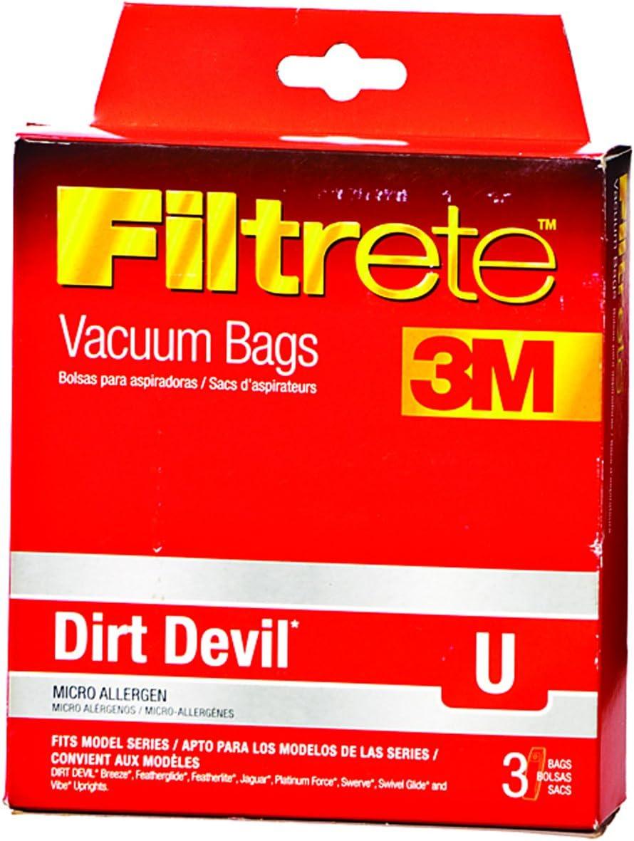 3M Filtrete Dirt Devil U Micro Allergen Vacuum Bag 3 Pack 65703