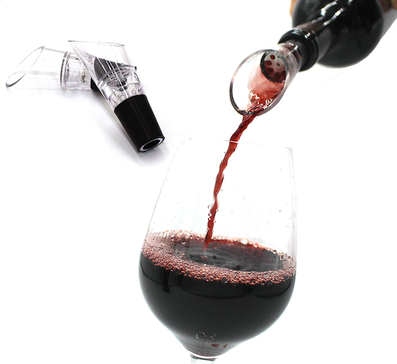 Vintager Wine Pourer Aerator (2-Pack), Oxygenating Wine Pourer, Drip-Free Flavor Enhancer, Fast Decanter Premium Aerating Spout