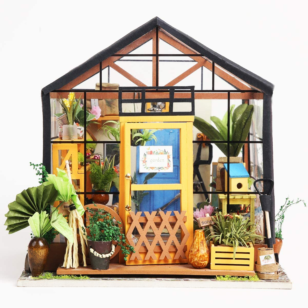 Rolife Dollhouse Wooden Room Kit-Flower Green House-Home Decoration-Miniature Model to Build