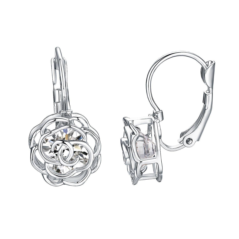 Yoursfs Pink Opal Leverback Earring Wedding For Women Trendy Fashion Drop Dangling Earrings (Leverback Earrings)