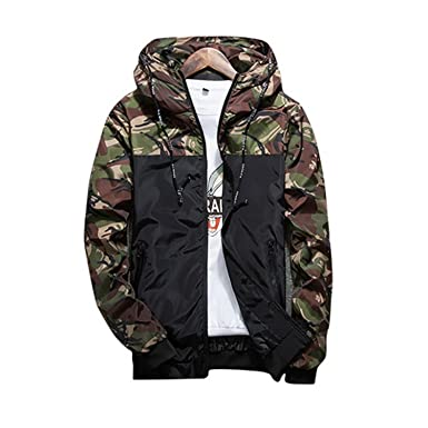 Coac3 Military Style Jacket Men Camouflage Patchwork Long Sleeve Jacket Streetwear Classic Fashion Jackets Plus Size5XL