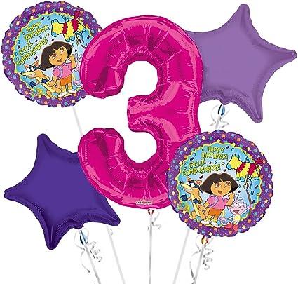 Amazon.com: Dora the Explorer Globo Ramo 3rd Cumpleaños 5 ...