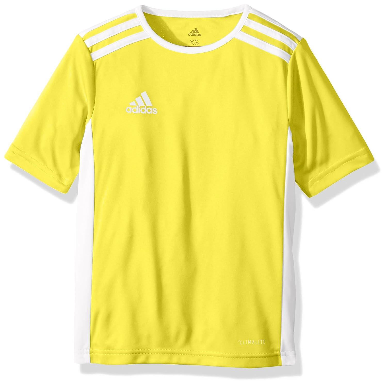 Adidas エントラーダジャージー 男子用 サッカー 18。 B071GWGFDF Medium イエロー/ホワイト イエロー/ホワイト Medium