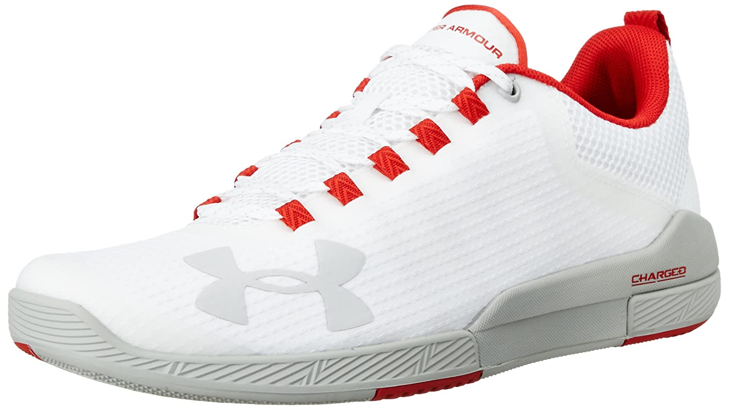Under Armour Men's Charged Legend Cross-Trainer Shoe B01GU930RO 7 D(M) US|White/Aluminum/Aluminum
