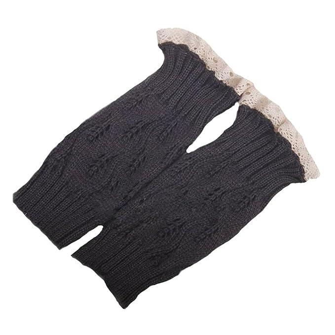 Toogoor Damen Mode Haekeln Strickte Spitze Ordnungs Stiefel
