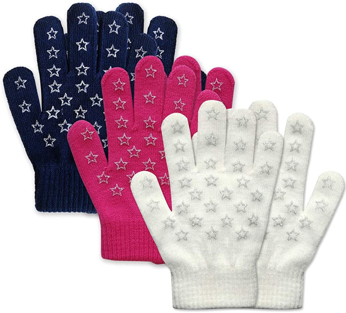 Girls Boys Toddler Small Size Magic Stretch Gloves Mittens Assorted Colours