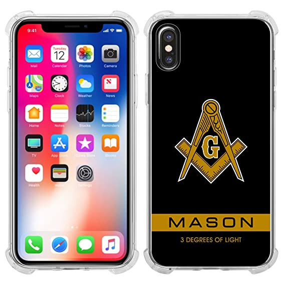 more photos e90af 5ab34 Amazon.com: Mason New Iphone X Case Clear: Cell Phones & Accessories