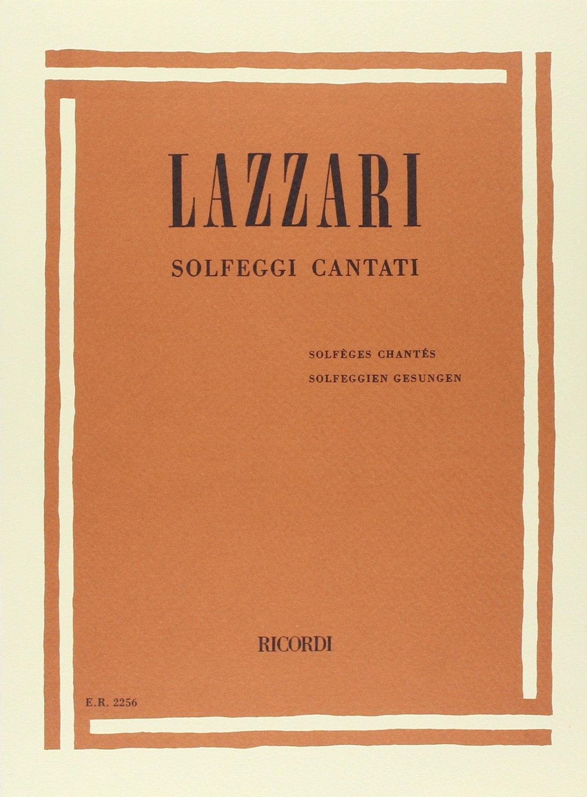 SOLFEGGI CANTATI (Francese) Copertina flessibile – 1 gen 1984 LAZZARI A. Ricordi 0041822560 Musique