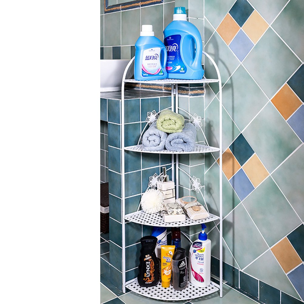 hot sale Bathroom racks/Toilet triangle floor corner/Wrought iron corner washbasin storage rack/bathroom rack-C