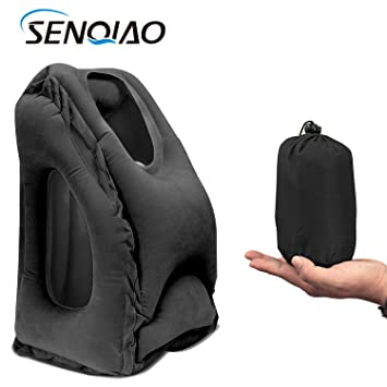 office nap pillow. SENQIAO Inflatable Travel Pillow,Air Cushion Portable Nap Pillow For Airplanes,Cars,Office Office C