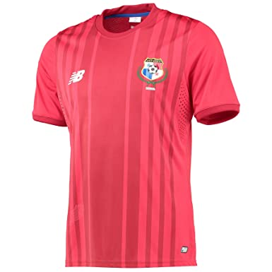 dc0ac26a5 Panama 2016 Home S S Replica Football Shirt - Red - size M  Amazon ...