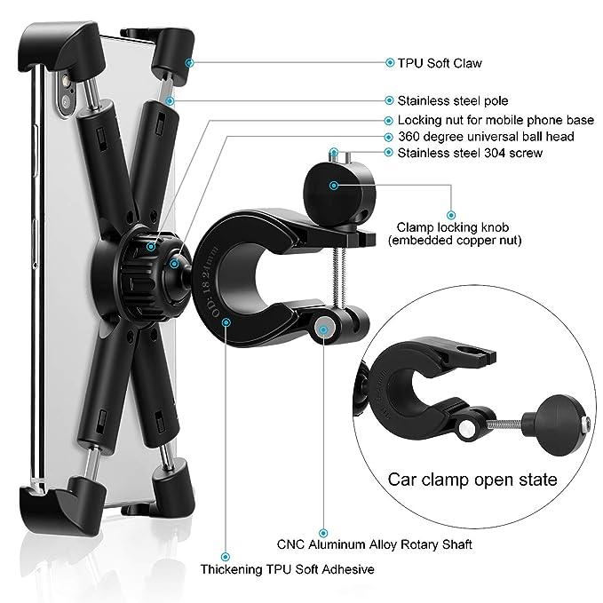 Amazon.com: Soporte de teléfono para bicicleta, soporte ...