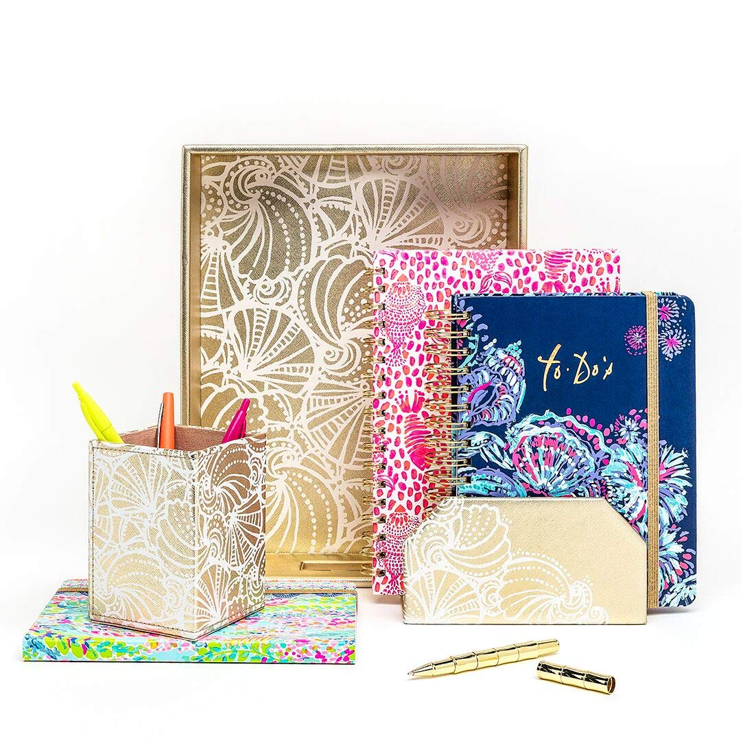 d8d3bfa6588d9c Lilly Pulitzer Women's Hardcover Undated To Do Planner, 6.5