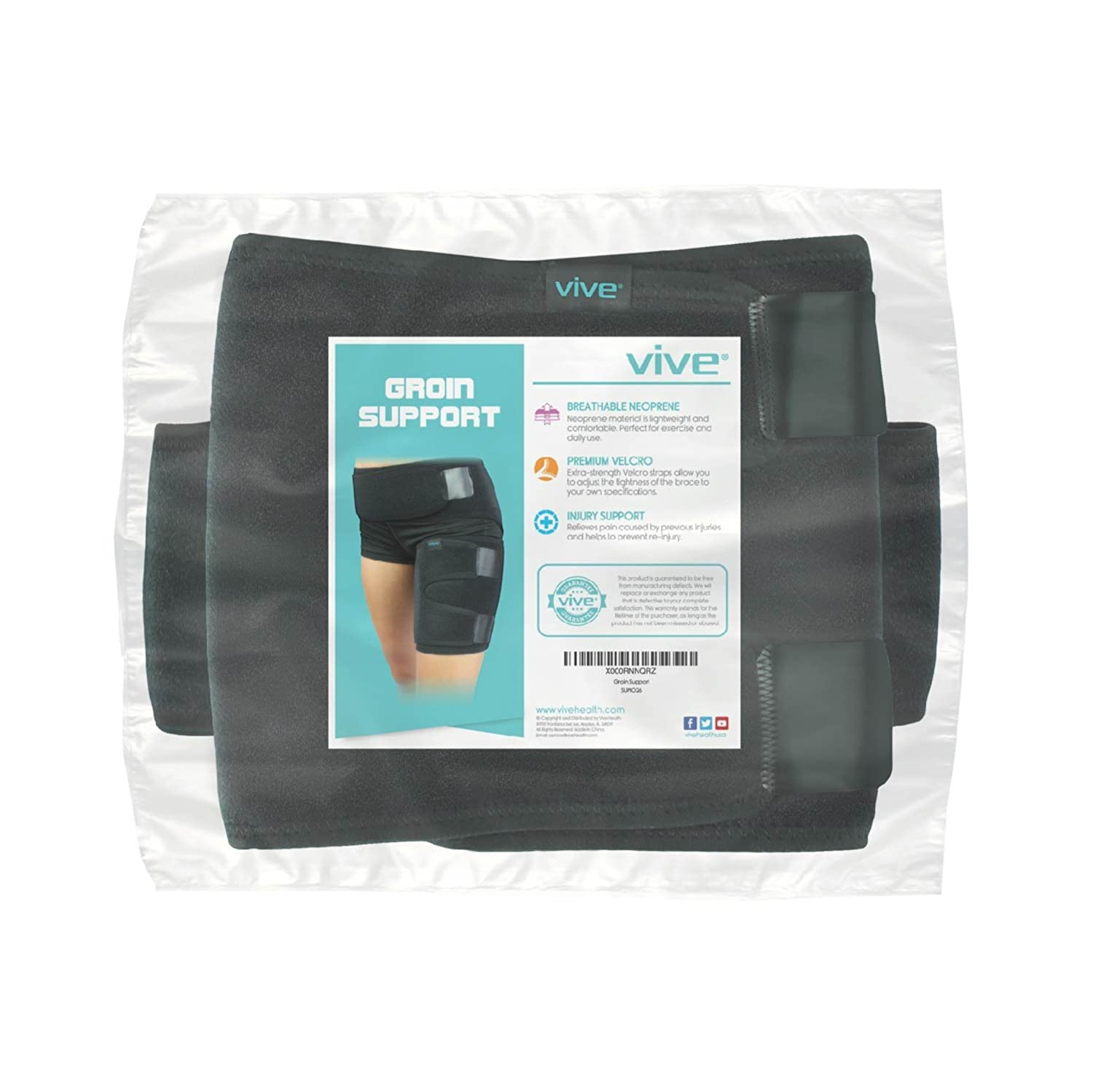 amazon com groin wrap by vive groin strain pain support for hip