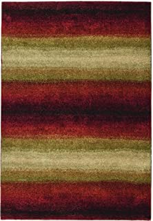 """product image for Orian Rugs Plush Stripes Skyline Red Runner (2'3"""" x 8')"""