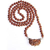Wonder Care - Auténtico collar Rudraksh Mala con cinco caras, adorno religioso con auténticas semillas Rudraksha del…