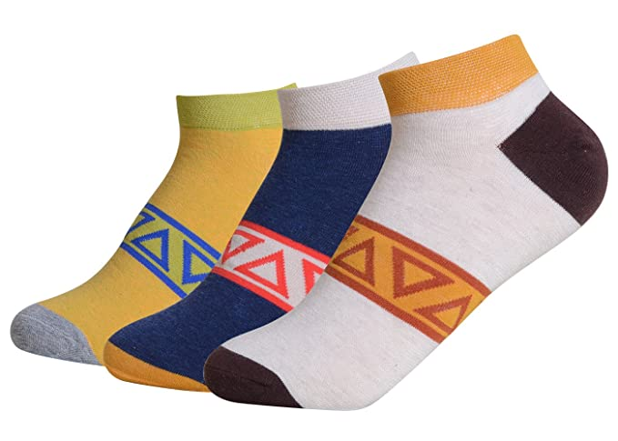 QBSM Sneaker Calcetines Cortos para Hombre Respirable Algodon Rayas Colores Para Verano tallas 39 a 42(12) W4EaaI6U