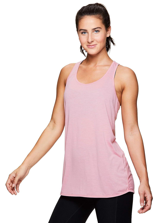 755c96156b9a5 Amazon.com  RBX Active Women s Back Detail Flowy Yoga Tank Top  Clothing