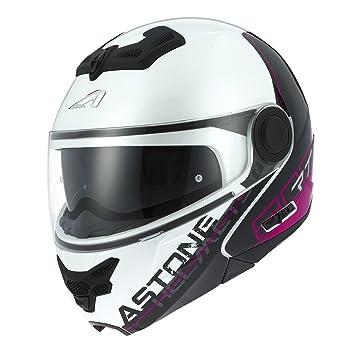Astone Helmets rt800-line-pwxs casco Moto RT 800 LINETEK, Rosa/Blanco