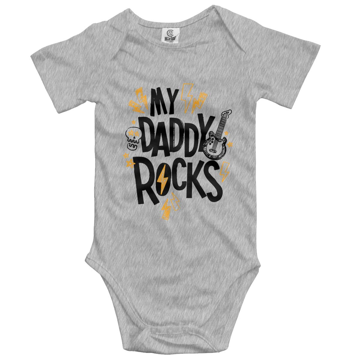 My Daddy Rocks Newbaby Baby Clothes Short Sleeve Jumpsuit Summer Onesie