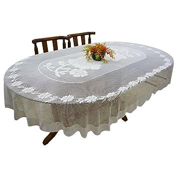 Buy Thefancymart Oval Shape Dining Table Cloth Croshay Design
