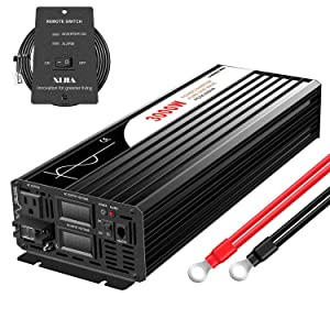 XIJIA 3000W (Peak 6000W) Pure Sine Wave Power Inverter