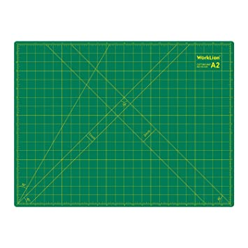Worklion 18 X 24 Large Self Healing Pvc Cutting Mat Double Sided Gridded Rotary Cutting Board For Craft Fabric Quilting Sewing Scrapbooking