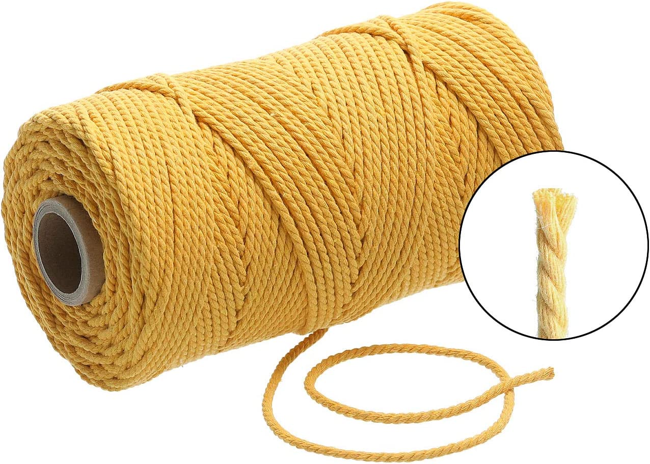 Cord/ón Premium de macram/é de 3 mm x 120 m de algod/ón Cappuccino Lieblingsgarn