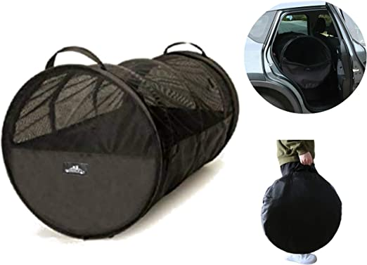 Pet Travel Tube Car Crate Kennel, Pet Containment Barrier Mesh Tube, Soft Pet Cage, One Large Size Fits All