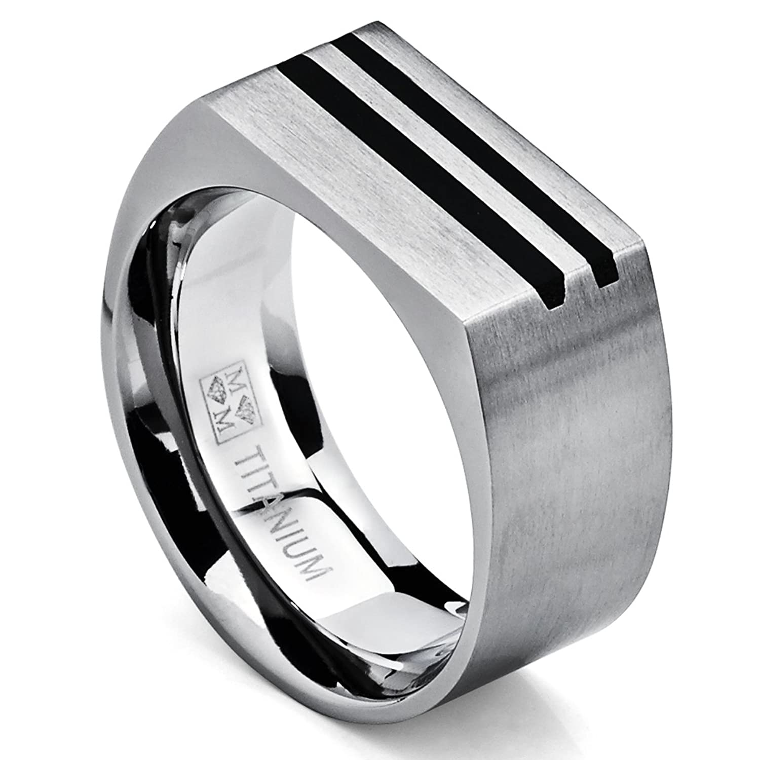 men band jewelry jeulia titanium steel s black mens bands product