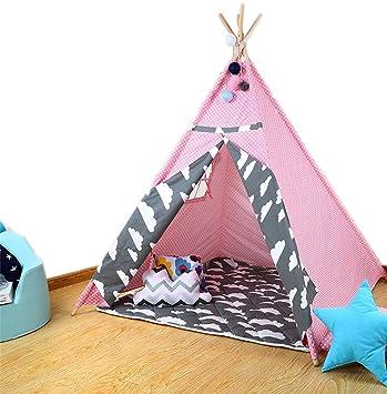 Enfants Tente en Bois Tente Étoile Blanche Jeu Maison Coton Enfant ...