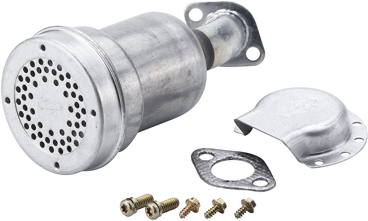 Horizontal Engines with a 1//2-Inch NPT Briggs /& Stratton 493288 Lo-Tone Muffler For 2-4 HP 11 CID