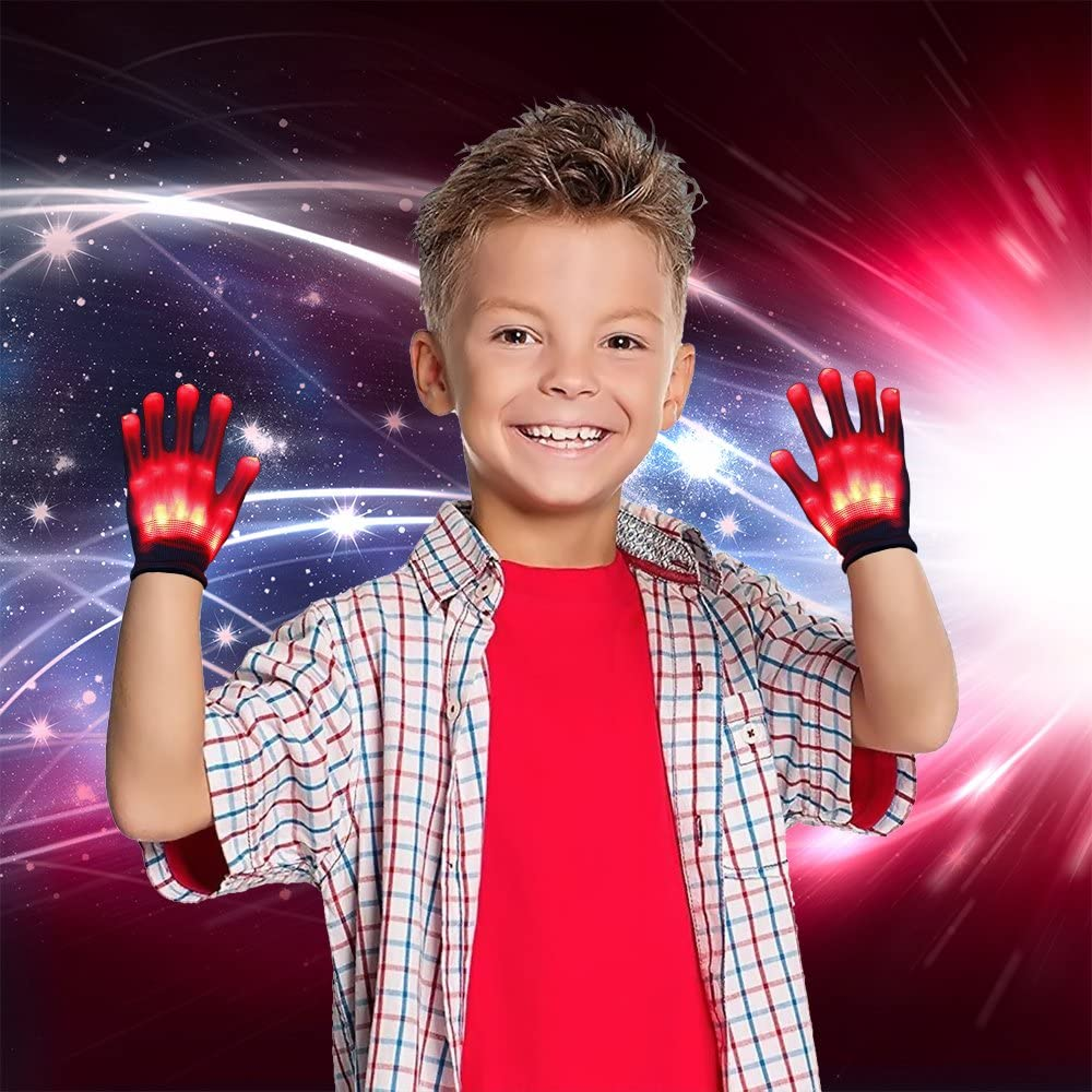 Best Gifts TOP Gift LED Flashing Gloves for Kids
