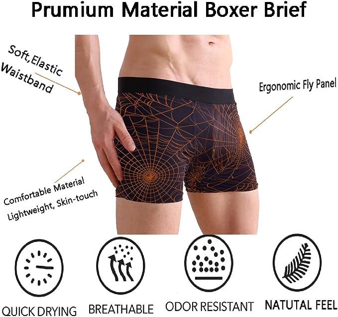 SUABO Men Boxer Briefs Polyester Underwear Men 2 Pack Boxer Briefs for Valentines Day with Africa Women Pattern